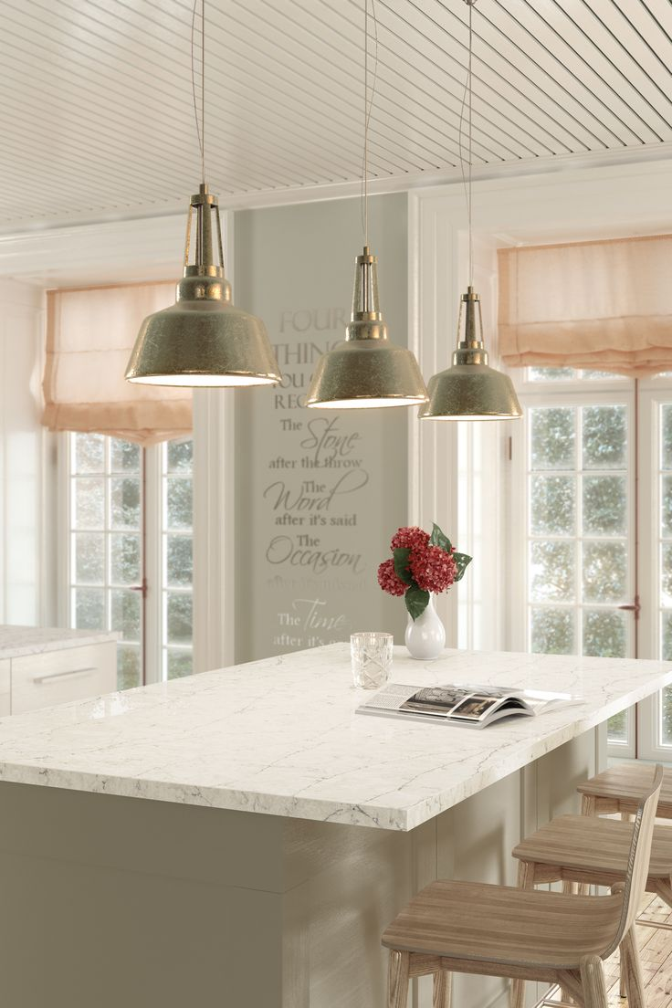 Silestone Eternal Pearl Jasmine offers N-Boost technology and intricate veining that adds texture to your home #design.