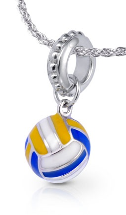 What are your favorite Volleyball Ball colors? #volleyball #jewelry $39