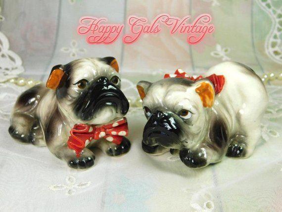 Bulldog Figurines Set Of Two Vintage Bulldog Figurines Bulldog Figurine Dog Gifts Dog Lover Gifts