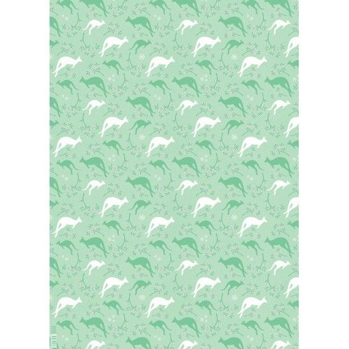 Christmas Wrapping Paper (Flat) - Merry Roos