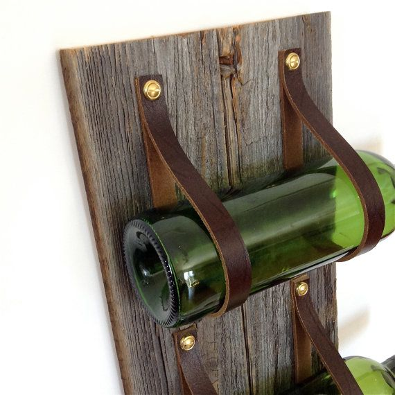 Wine Rack with reclaimed wood and recycled by BlisscraftandBrazen