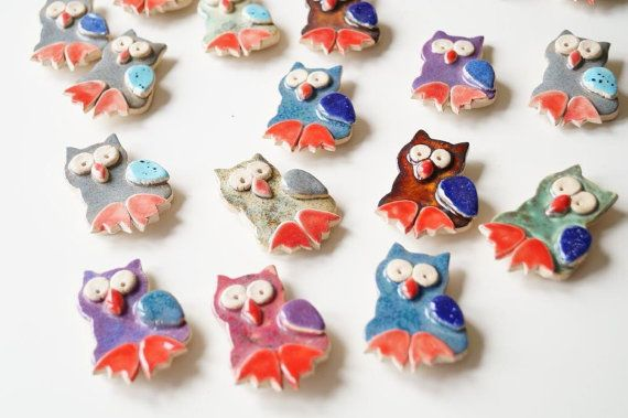 20 Owl Wedding Favor 20 pieces set Ceramic Owl by HerMoments
