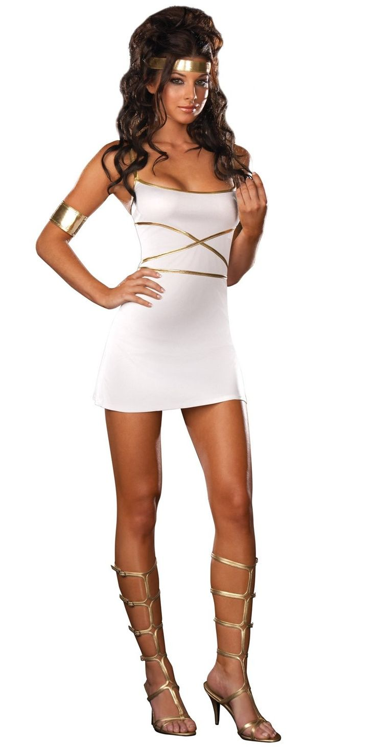 Oh My Goddess Adult Costume - Includes dress, headband, and arm bands. Shoes not included. Small.