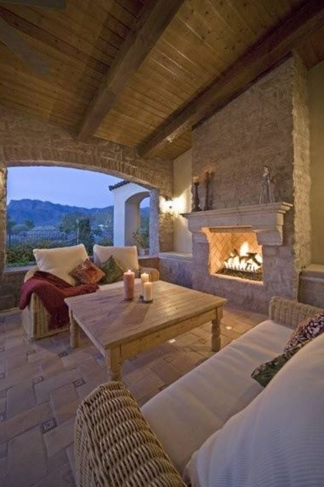 Fireplace Design Ideas, Outdoor,  Thanks to http://www.njestates.net