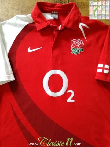 Official Nike England short sleeve rugby shirt from the 2007/2008 international season.