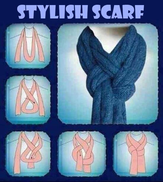 Formas de anudarse un foulard o una bufanda. DIY Nice Scarf
