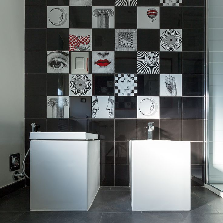 #bathroom #square #tiling #touchofred #modern