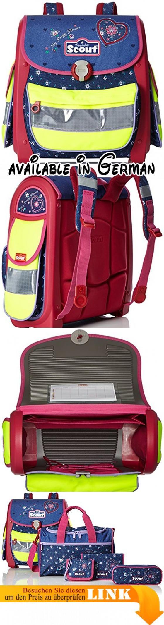 Scout - Buddy - Schulranzen Set 5 tlg. - My Pretty Flower. Schule-Set aus hochwertigen Materialien gefertigt.. Rucksack ist ergonomisch geformte Rücken.. Rucksack ist speziell mit einem Schwerpunkt auf die Sicherheit der Kinder konzipiert. #Koffer, Rucksäcke & Taschen #LUGGAGE