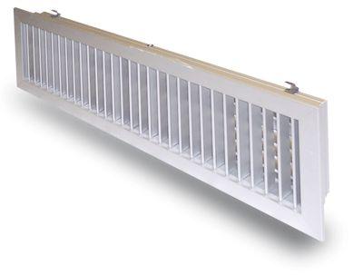 Bocchette di Mandata in alluminio verniciato Bianco RAL 9010 dotate di serranda di taratura inclusa nella fornitura. Disponibili in tantissime misure
