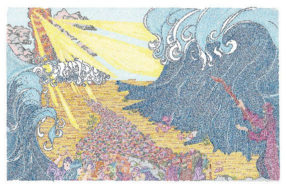 Parting of the Red Sea - Entire Book of Exodus #etsymntt #Judaism