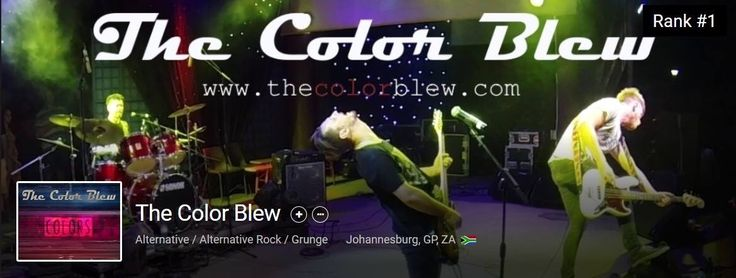 The Color Blew ranked #1 on Reverbnation   ZA