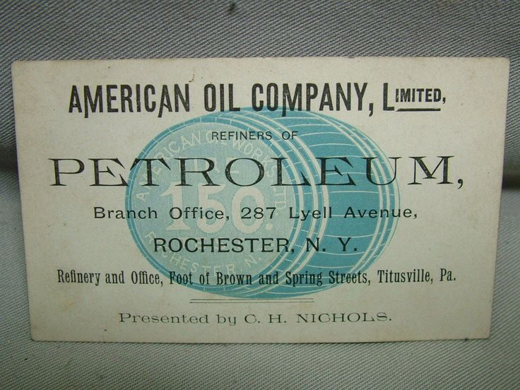 70 best business cards images on pinterest business cards carte circa 1890 american oil co business card titusville pa rochester ny ebay reheart Choice Image