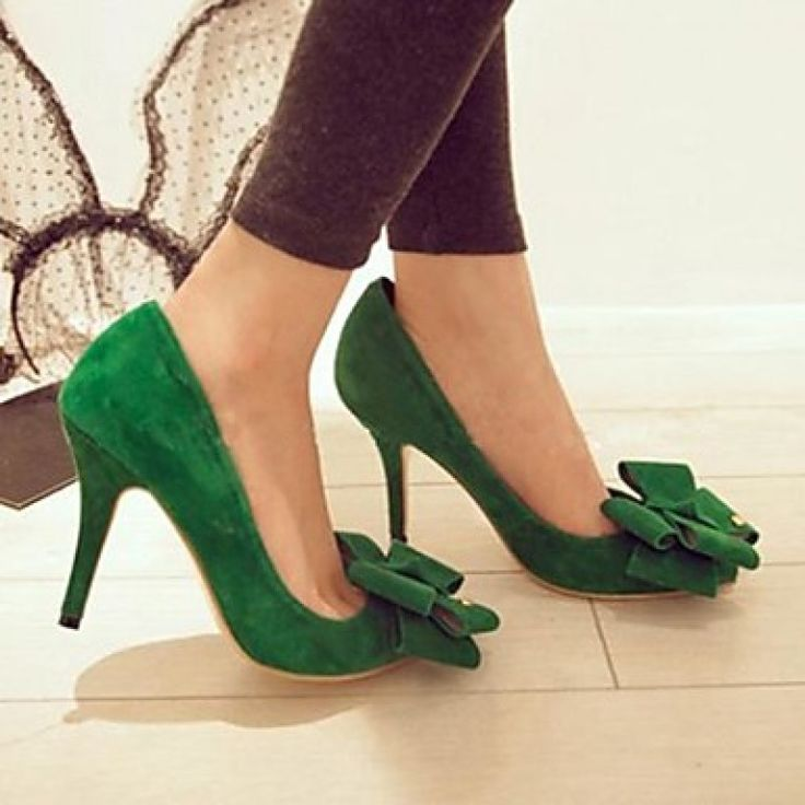 Flocking Women's Stiletto Heel Pointed Toe Pumps/Heels Shoes Nz only at NZ$46
