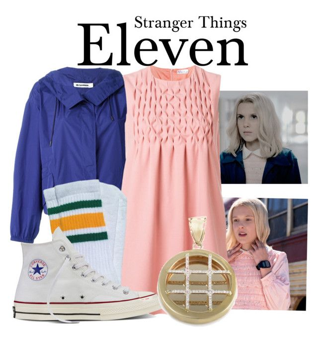 Stranger Things by sparkle1277 on Polyvore featuring polyvore, fashion, style, RED Valentino, Jil Sander, Converse and clothing
