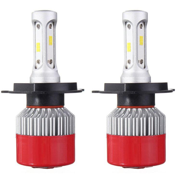 Pair COB LED Car Headlight Kit 6000K H4 H7 H11 H13 9005 9007 60W 7200LM Sale - Banggood.com