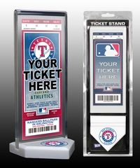My First Texas Rangers Game Ticket Display Stand
