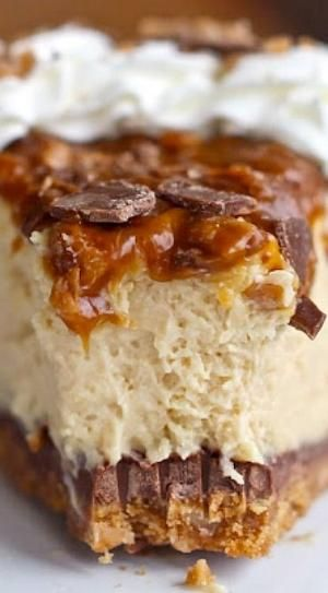 Caramel Toffee Crunch Cheesecake by Caroline C. ❦