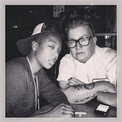 "When Samira Wiley and Lea DeLaria practiced mean mugging. | 28 Times The Cast Of ""Orange Is The New Black"" Was Adorable Together On Instagram"