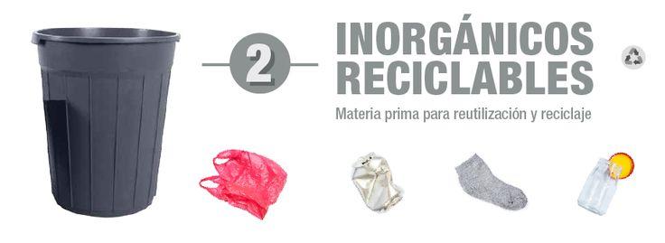residuos inorgánicos reciclables o valorizables