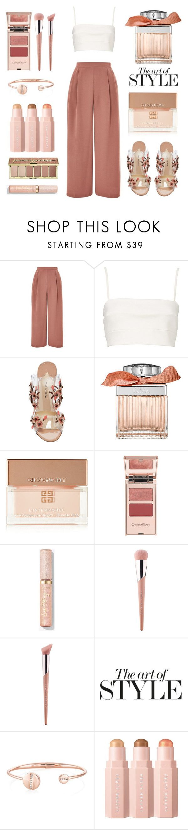 """Untitled #688"" by tenindvr ❤ liked on Polyvore featuring Topshop, Witchery, Paul Andrew, Chloé, Givenchy, Charlotte Tilbury, Puma and tarte"