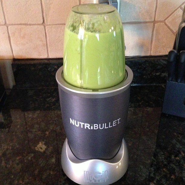 Smoothie #NutriBullet #healthy #smoothie #green #spinach #pear #apple #banana