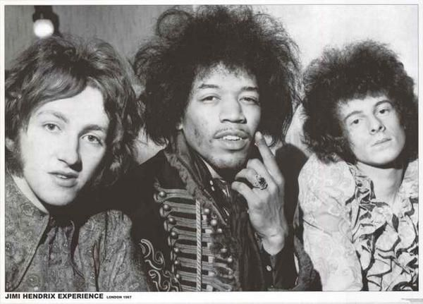"A fantastic portrait poster of the Jimi Hendrix Experience - Mitch Mitchell, Jimi, and Noel Redding - in London in 1967! Ships fast. 24x33 inches. ""Experience"""