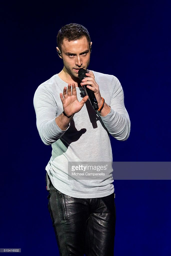 Mans Zelmerloew performs during the final rehearsal of Melodifestivalen 2016 Final at Friends Arena on March 12, 2016 in Stockholm, Sweden.