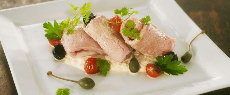 Vitello tonnato, veau froid et sauce au thon