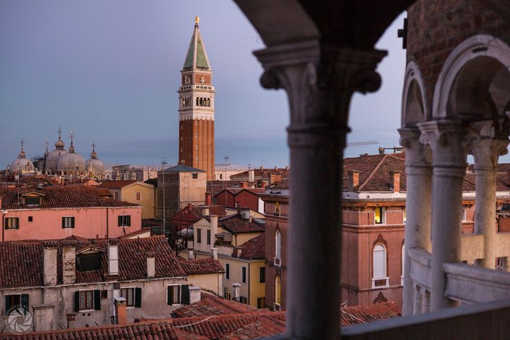 Roofs of Venice, With the St. Mark Campanile and Basilica