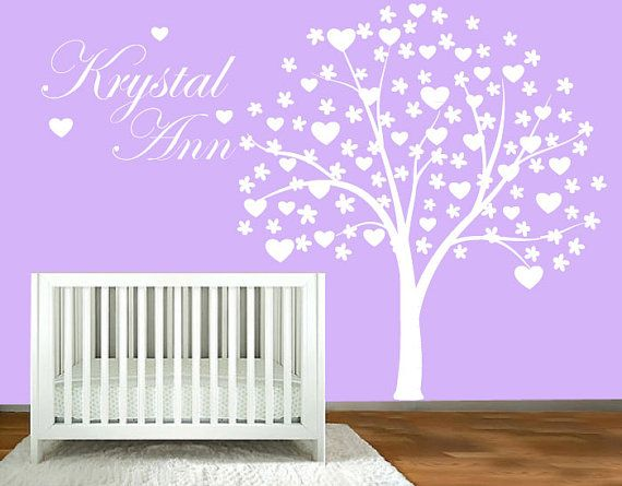 Nursery wall decal  Tree with hearts and by ModernWallDecal, $125.00