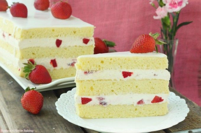 This strawberry shortcake cake is a lovely change from the traditional strawberry shortcake. Layers of rich buttery cake filled with smooth strawberry cheesecake