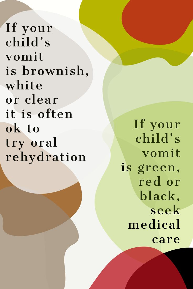 If your child is vomiting and the vomitus looks green the