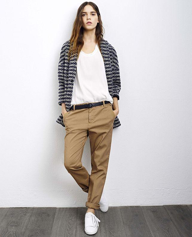 Pantalón chino VORNELLA - Color CHAMOIS