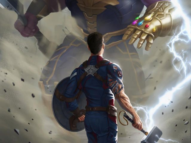 Download 1920x1080 Captain America Against Thanos Endgame Art 1080p Laptop Full Hd Wallpaper Pc Wallpaper Full Hd Full Hd Wallpaper Captain America Wallpaper