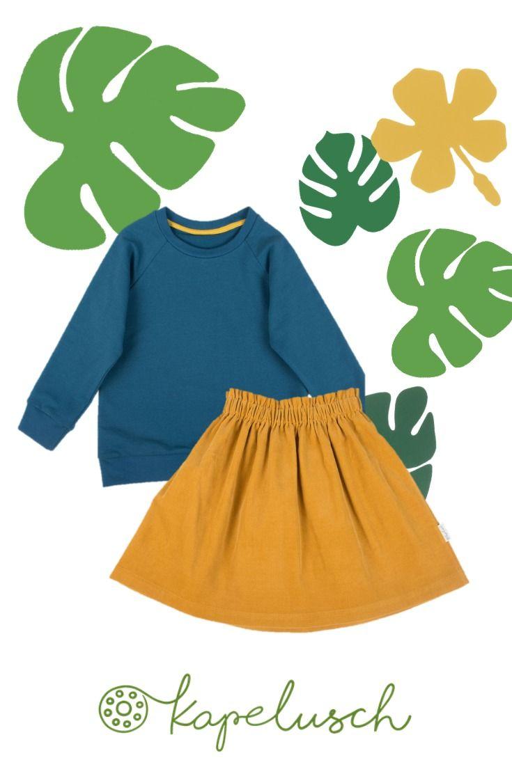 Fashion Für Kinder In Zauberhaften Farben Senfgelb Und Petrol