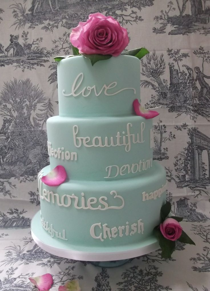 leather charm bracelets Round Wedding Cakes  Heartfelt words  Cakes  4