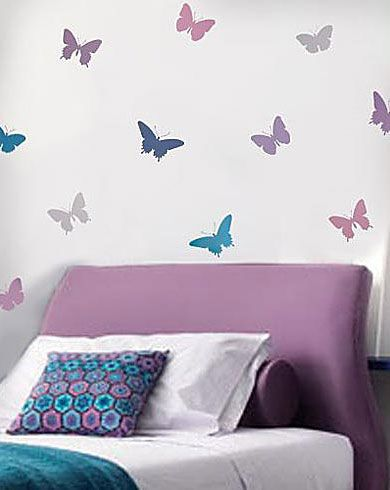 44 best images about butterfly stencils on pinterest for Butterfly design on wall