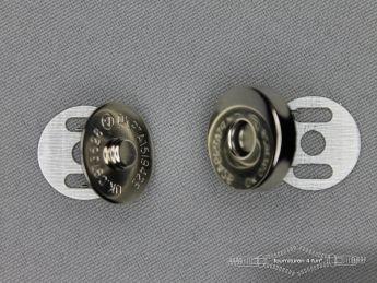 Magneet knopen 18mm buig zilver