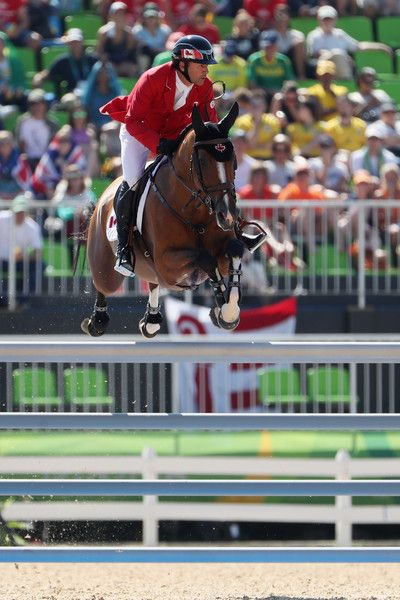 Eric Lamaze of Canada Fine Lady 5 competes during the Jumping Individual and Team Qualifier on Day 9 of the Rio 2016 Olympic Games at the Olympic Equestrian Centre on August 14, 2016 in Rio de Janeiro, Brazil.