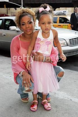 Tionne Watkins (T-Boz from TLC) and her daughter! I thought this was precious!