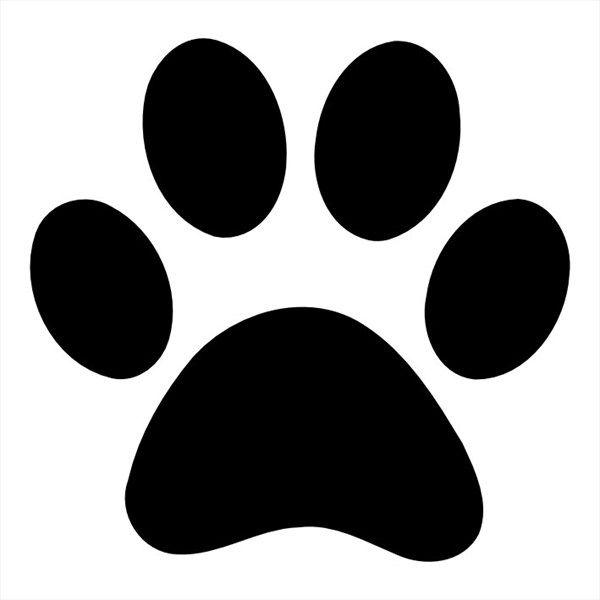 Printable Paw Print Stencil Printable Dog Paw Print Stencil