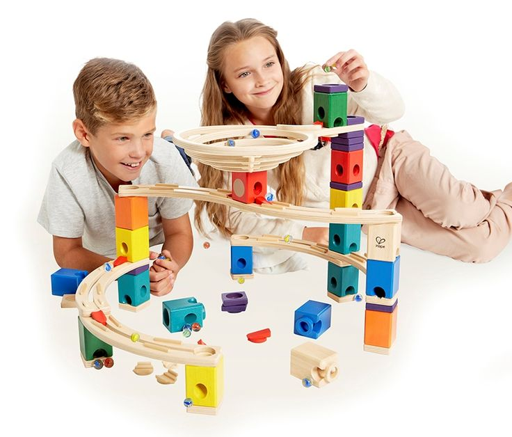 Hape Quadrilla® is a system of blocks, tracks and accessory pieces that allow the energy of a marble to travel down a wooden path. Meticulously crafted wooden tracks and a rainbow of coloured blocks, each with a different function, are the starting point for an infinite number of designs. This award-winning educational toy will gives hours of learning and entertainment, challenging children's observation, thinking, and problem solving skills. From $144.99