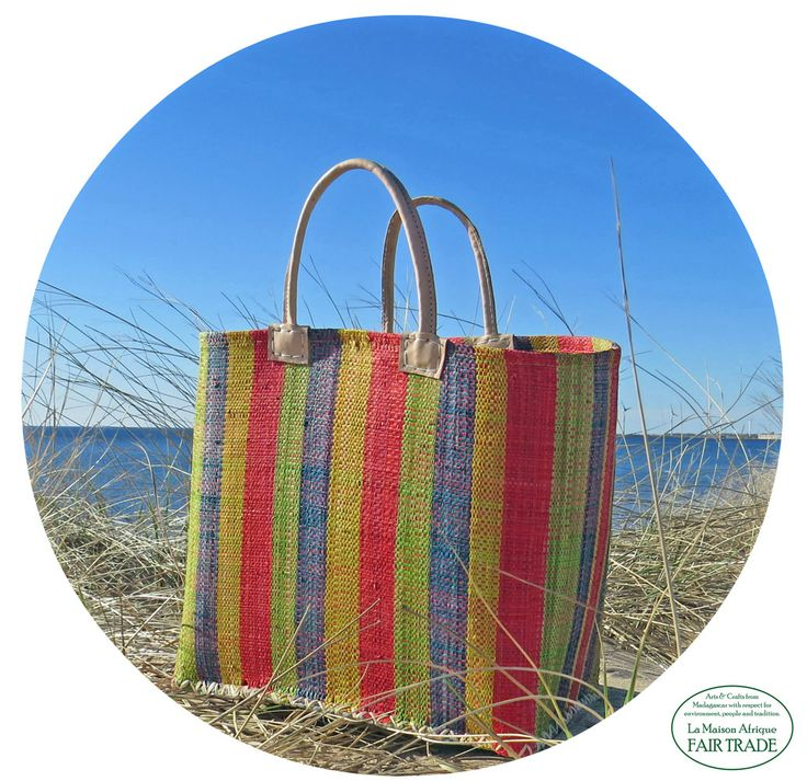 Beach season in view.  Fair Trade basket adds greater joy!