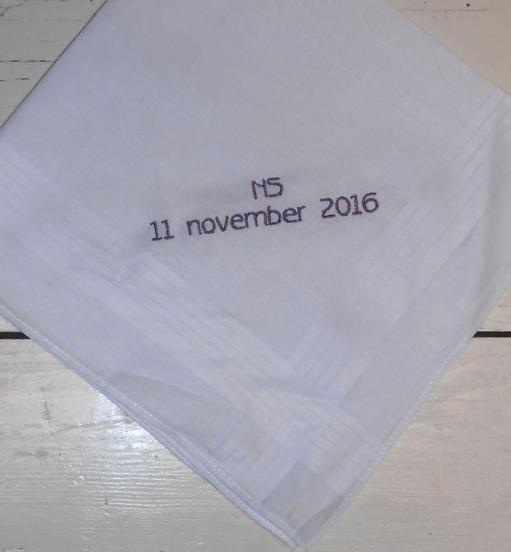 11-11-2016 zakdoek http://www.bruiloftzakdoekje.nl