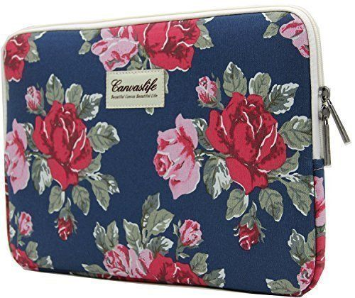 Canvaslife Flower Patten Laptop Sleeve 13 Inch Macbook Air 13 Case Macbook Pro 13 Sleeve and 13.3 Inch Laptop Bag Canvaslife