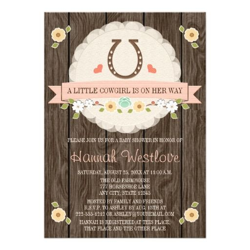 western cowgirl baby shower card western bridal showers cowgirl baby