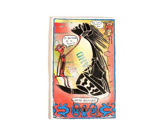 DAYDREAMERS WANTED, original art, graffiti art, art decoration, mixed media, acrylic painting, stencils,