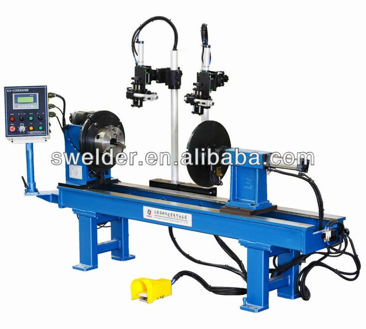 automatic double circumferential seam plasma welder with PLC control