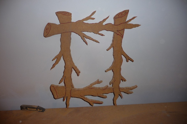 Branches is cut out and ready to sculpt and then paint...