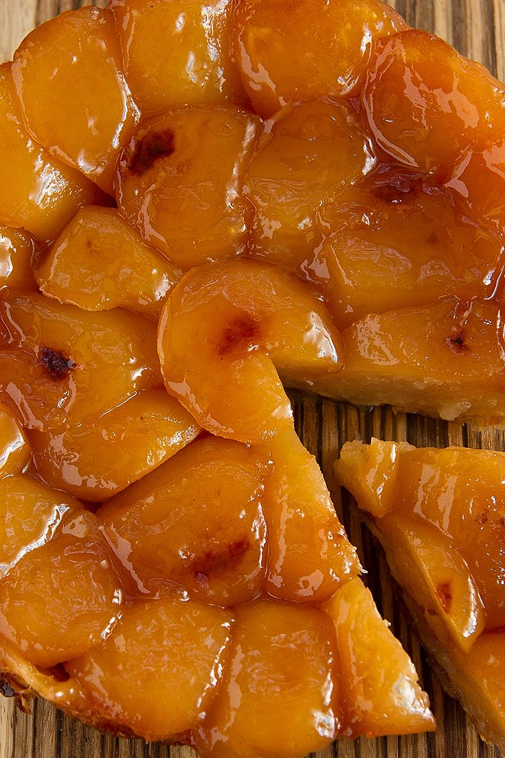Tarte Tatin isn't as American as apple pie, but it's a whole lot easier. With just four ingredients, it's all about the apples: the lovely taste and shape of the fruit are preserved by sugar and heat, with a buttery-salty crust underneath. (Photo: Morgan Ione Yeager)
